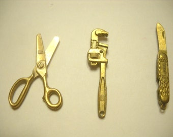 Vintage Miniature Tool Charms By Intercast (4462)