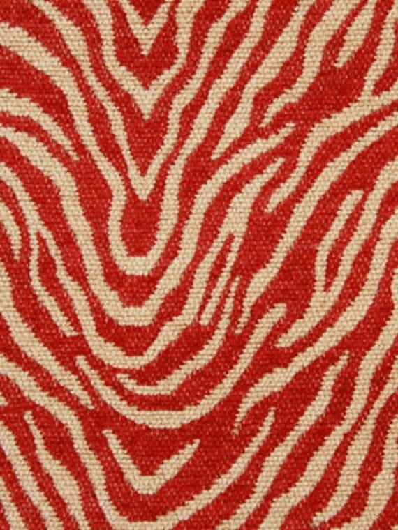Modern Red Animal Upholstery Fabric Woven Zebra Fabric