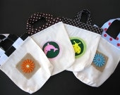 set of 12 Gift Bags, small  totes Muslin Bags , Holiday Party Favor Bags, Drawstring Bags,