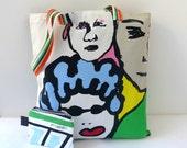 Cotton strong shopping bag + pouch shopping tote eco  bag eco
