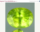 15% off everything Sphene Yellow Green Facet Loose Gemstones 9 x 7 MM Oval 2.93 Carat