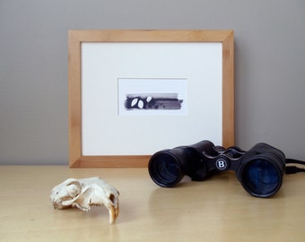 SALE // 20% off // ptarmigan ink painting // matted print