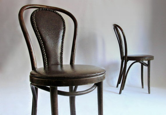 Thonet Bentwood Cafe Chairs Like this item marked Thonet cafe