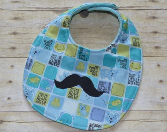 Mustache That's What Little Boys Are Made Of Baby Bib
