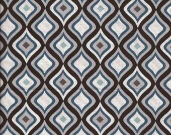 1/2 Yard Fabric Cotton Black and White Graphic Modern Moroccan print Cotton Fabric