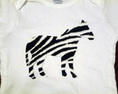 Zebra Iron On Applique