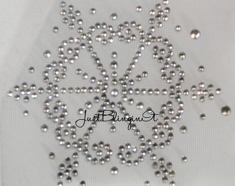 Snowflake- Small and Fancy Rhinestone Bling Iron On Transfer