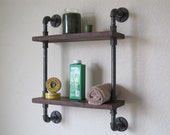 Bathroom Pipe Shelf