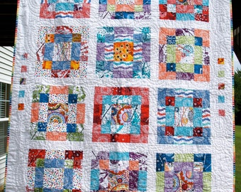 Color Explosion Handmade Quilt
