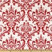 """Premier Prints Red and White Traditions Damask Fabric Remnant 14"""" x 40"""""""