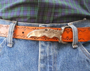 Forged Horse Head Belt Buckle and Custom Belt
