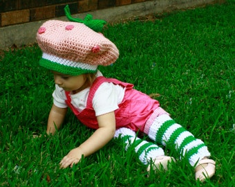 Strawberry Shortcake Hat and Leg Warmers