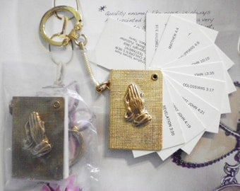 2 Goldplated Bible Key Rings