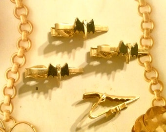 4 Goldplated Batman Tie Clips