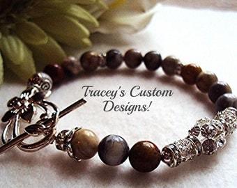 "Stunning ""Marble Stone"" Bracelet - CUSTOM MADE JEWELRY"
