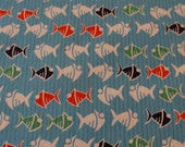 Fishy Cotton Seersucker