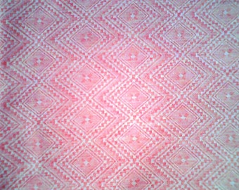 Pink & White Lightweight Diamond Knit...1 2/3 Yards