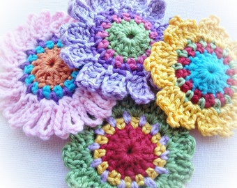 Set of Quick Flowers Crochet Patterns
