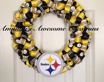 Steelers Football Wreath