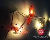 20 Dragonfly Art Multi Colour Fairy Lights String 10FEET PARTY Wedding Hanging Bedroom Home Decor