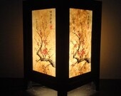 Asian Oriental Japanese Cherry Blossom Trees Zen Art Bedside Desk Table Lamp or Bedside Paper Light Shades Furniture Wedding Gift Home Decor