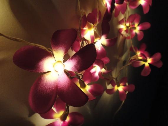 Purple String Lights For Bedroom : 35 Purple Frangipani String Lights Flower Fairy Lights Bedroom