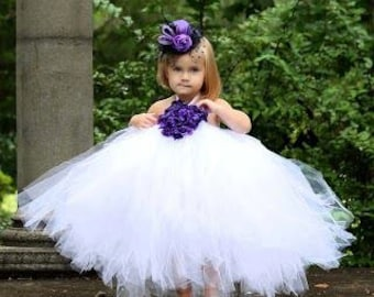 Flower Girl, Wedding, Bridesmaid Couture OTT Tutu Dress size NB,3, 6, 9, 12, 24 months, 2, 3, 4, 5,6T