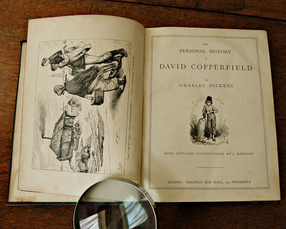 1800s Charles Dickens David Copperfield illustrated hardback book