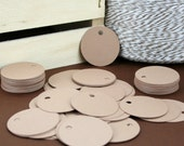 100 - Kraft Circle Hang Tags / Jewelry Tag / Price Tags / Product Tags / Labels - 1.25 inch