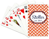 Personalized Playing Cards Monogrammed Deck of Cards Custom Card Deck Choose Colors