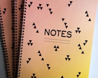 Sunset Triangle Notebook