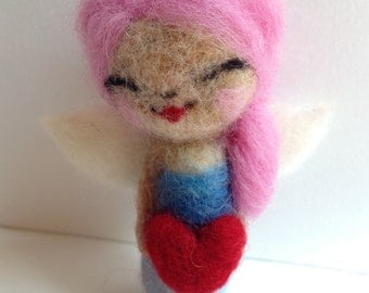 Felted Angel Fairy Doll and Ornament Doll