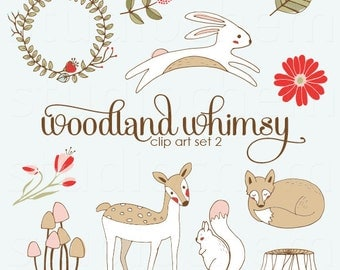 Woodland Whimsy 2 Clip Art Set