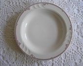 White & Red Restaurant China Bowl by Syracuse, Soup or Salad Bowl, Industrial Kitchen