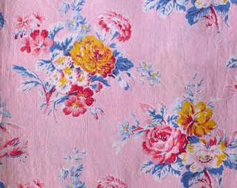 Pink Chintz cotton cushion cover  SIZE 50 x 51 inches