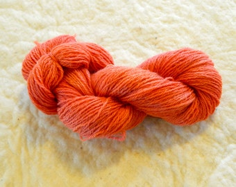 "3 Ply Sport weight yarn ""Tomato"""