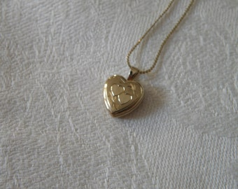 Sweet Gold Filled Heart Locket Necklace