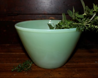 Jadeite Fire King Splash Proof Bowl Retro Mid Century Depression Glass