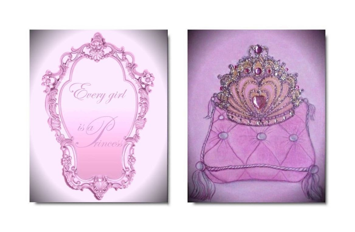 Princess Nursery Cinderella Room Decor Girl By Handpainting