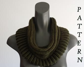 Knitting cowl pattern + Free Knitting Scarf Pattern . PDF 051.