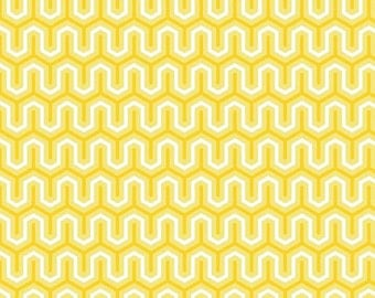 Sweet Zig Zag in Yellow Yard Cut