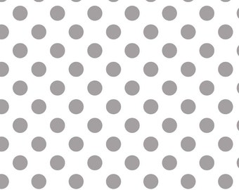 Medium Gray Dots on White : Riley Blake Designs - 1 Yard Cut