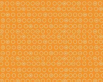 Crazy Circles  Orange 1/2  Yard Cut