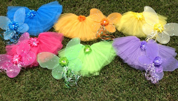 6 Tinkerbell and Friends Birthday Party Ballet Tutus Fairy Princess Wings,  Party Favors, Fairy Princess Wings, Tinkerbell Birthday party