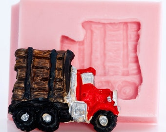 Truck silicone mold for resin, polymer clays, paper casting, plaster craft your own jewelry, embellishments and crafts.(895)