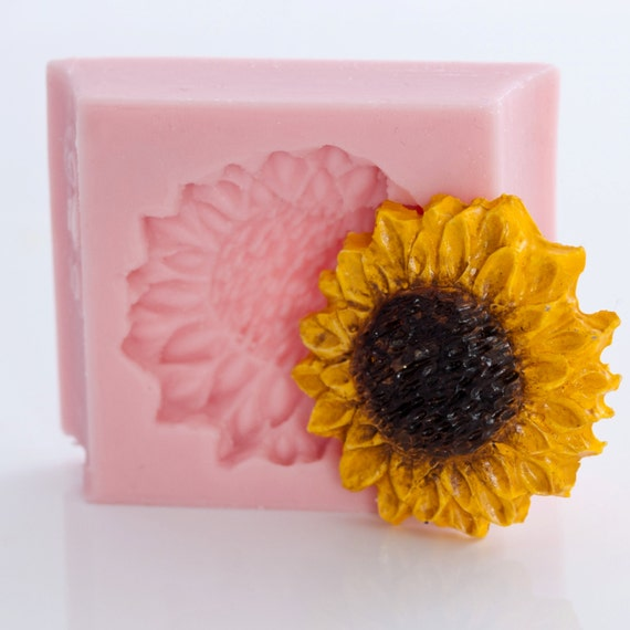 Sun Flower Mold Food Grade Flexible to make Cup Cake Topper, Fondant, Gum Paste, Ice, Candy and more. (526)