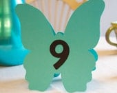 Butterfly Table Numbers for Weddings, Parties, Receptions.