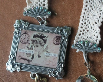 Handmade Victorian style Lace bookmark/back to school/gift/reading accessories/mother's day gift/vintage lace