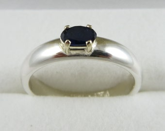 Natural Sapphire Ring set it Silver and Gold