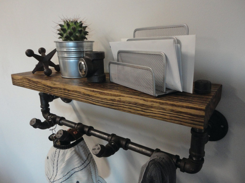 Industrial Black Pipe And Reclaimed Barn Wood Coat By